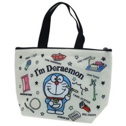 小禮堂 哆啦A夢 便當袋 尼龍 手提袋 保冷袋 野餐袋 (米黑 道具)
