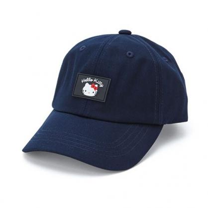 小禮堂 Hello Kitty 鴨舌帽 老帽 休閒帽 棒球帽 遮陽帽 (深藍 2020夏日服飾)
