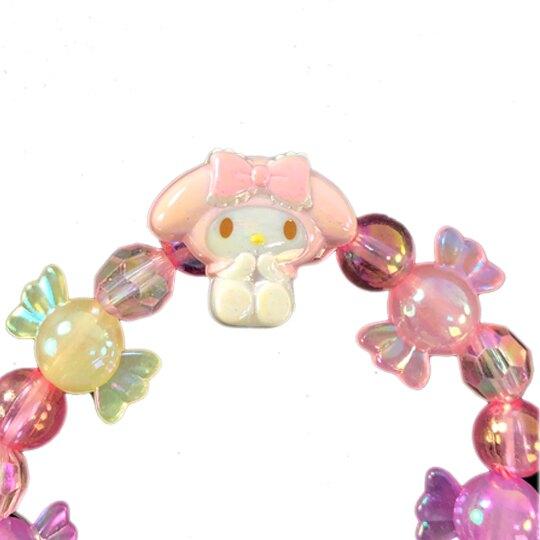 小禮堂 美樂蒂 串珠手鍊 造型手鍊 兒童飾品 手環 首飾 (粉紫 糖果)
