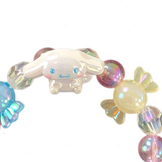 小禮堂 大耳狗 串珠手鍊 造型手鍊 兒童飾品 手環 首飾 (藍黃 糖果)