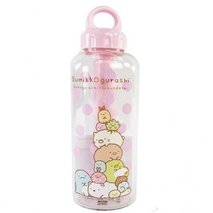 小禮堂 角落生物 塑膠水瓶 隨身瓶 冷水瓶 兒童水壺 運動水壺 580ml (粉蓋 點點)
