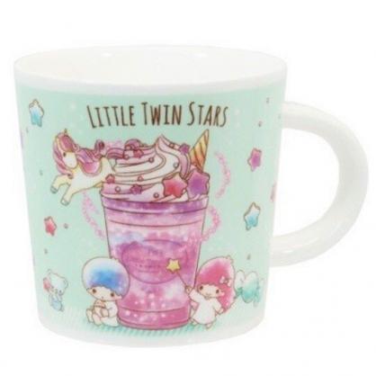 小禮堂 雙子星 馬克杯 陶瓷杯 咖啡杯 茶杯 250ml (綠紫 冰沙杯)