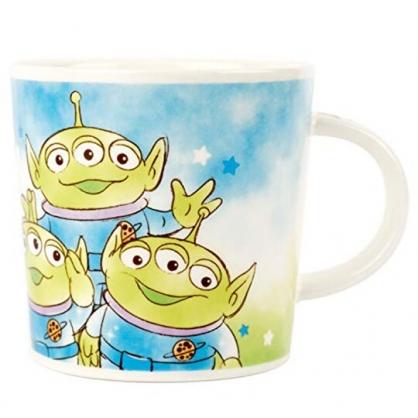小禮堂 迪士尼 三眼怪 馬克杯 陶瓷杯 咖啡杯 茶杯 250ml (藍綠 三隻)