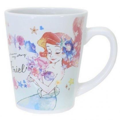 小禮堂 迪士尼 小美人魚 馬克杯 陶瓷杯 咖啡杯 茶杯 (綠藍 閉眼)