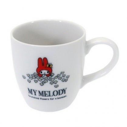 小禮堂 美樂蒂 日製 馬克杯 陶瓷杯 咖啡杯 茶杯 金正陶器 (白 紅帽)