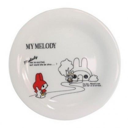 小禮堂 美樂蒂 日製 陶瓷盤 圓盤 淺盤 點心盤 沙拉盤 金正陶器 (白 紅帽)