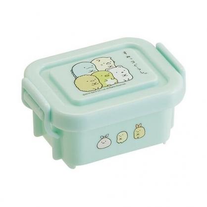 小禮堂 角落生物 迷你 保鮮盒 方形塑膠 雙扣 便當盒 餐盒 140ml (綠 疊坐)