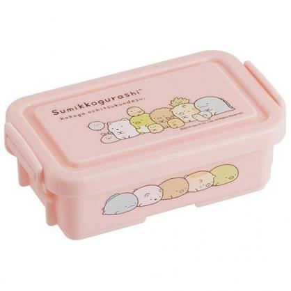 小禮堂 角落生物 便當盒 方形塑膠 雙扣 保鮮盒 餐盒 340ml (粉 排坐)
