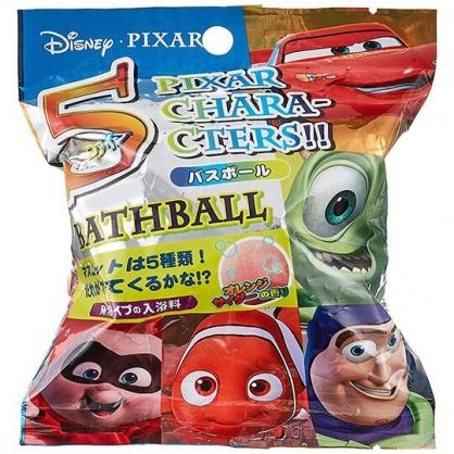 〔小禮堂〕迪士尼 造型入浴球《5款隨機.綠橘.大臉》入浴劑.泡澡球