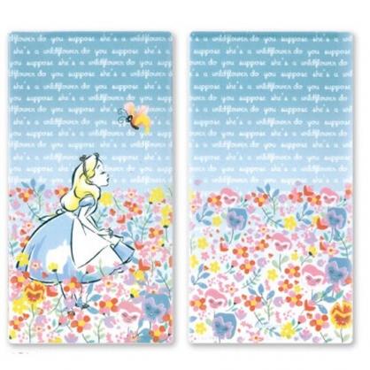 小禮堂 迪士尼 愛麗絲 日製 口罩夾 收納夾 口罩收納 抗菌加工 (藍粉 花朵)