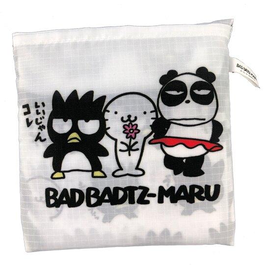 小禮堂 酷企鵝 環保購物袋 尼龍 可折疊 環保袋 手提袋 (黑白 頑皮海豹)