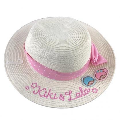 小禮堂 雙子星 編織帽 兒童帽 圓頂帽 草帽 遮陽帽 海灘帽 (米粉 2020夏日服飾)