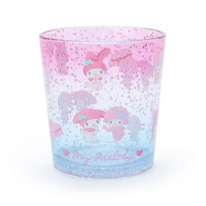 小禮堂 美樂蒂 塑膠杯 兒童水杯 透明杯 水杯 無把 氣泡紋路 300ml (粉 2020新生活)