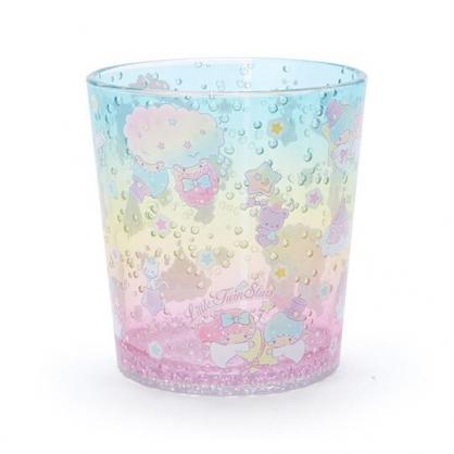 小禮堂 雙子星 塑膠杯 兒童水杯 透明杯 水杯 無把 氣泡紋路 300ml (黃 2020新生活)