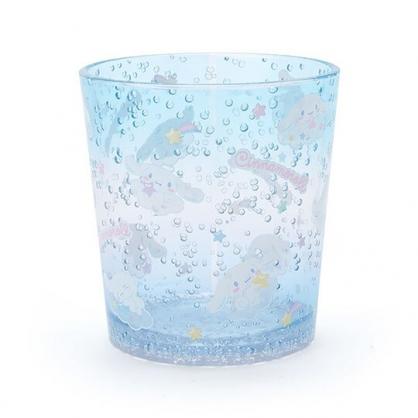 小禮堂 大耳狗 塑膠杯 兒童水杯 透明杯 水杯 無把 氣泡紋路 300ml (藍 2020新生活)