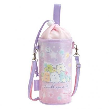 小禮堂 角落生物 水壺袋 水壺背袋 保冷 防水 環保杯袋 水瓶袋 500-650ml (紫 星星)
