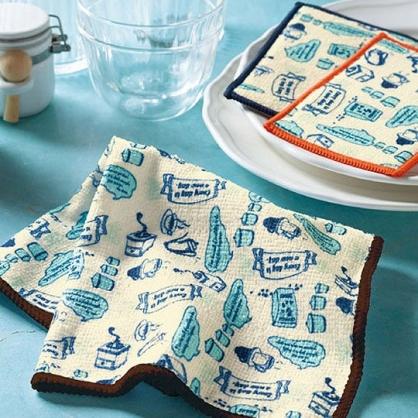 小禮堂 速乾抹布 清潔海綿 菜瓜布 毛巾 吸水布 (3入 橘藍)