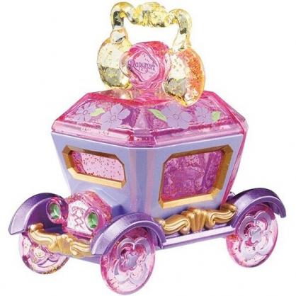 小禮堂 迪士尼 長髮公主 TOMICA多美小汽車 水晶馬車 飾品盒 珠寶車 玩具車 模型 兒童玩具 (紫黃)