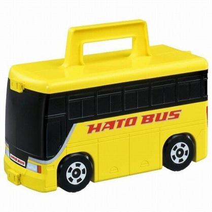 小禮堂 TOMICA多美小汽車 手提巴士玩具組 汽車收納盒 玩具車 兒童玩具 (黃黑)