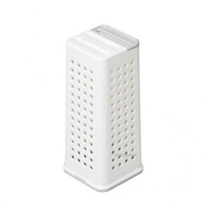 小禮堂 日本INOMATA 日製 刀具收納架 塑膠 刀架 置物架 直立式 6段調節 (白盒裝)