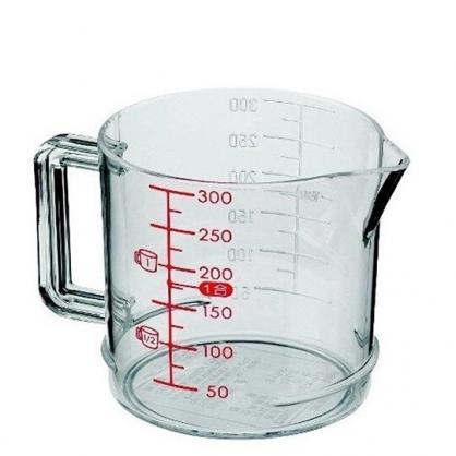 小禮堂 日本INOMATA 日製 量杯 烘焙用品 測量工具 塑膠 單耳 300ml  (透明)