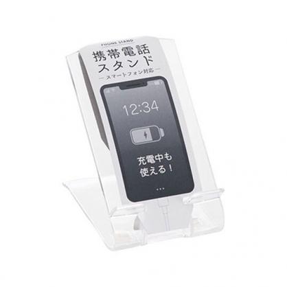小禮堂 日本INOMATA 日製 塑膠 直立式手機架 手機立架 置物架 手機配件 (透明)
