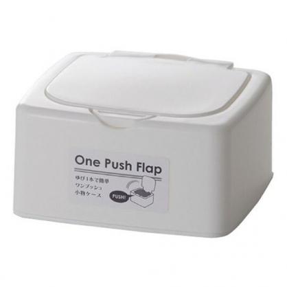 小禮堂 日本山田化學 日製 迷你 收納盒 按壓彈蓋 塑膠 飾品盒 置物盒 文具盒 (白)