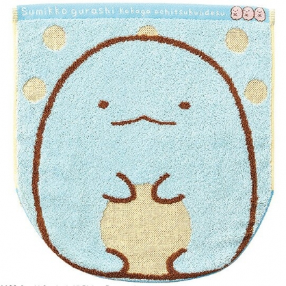 小禮堂 角落生物 短毛巾 方形毛巾 純棉 無捻紗 丸真毛巾 34x36cm (藍 恐龍)