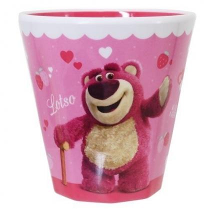 小禮堂 迪士尼 玩具總動員 熊抱哥 美耐皿杯 無把 兒童水杯 漱口杯 塑膠杯 270ml (粉 草莓)