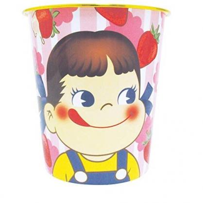 小禮堂 不二家PEKO 垃圾桶 塑膠桶 書報桶 收納桶 置物桶 無蓋 圓形 (粉 草莓)
