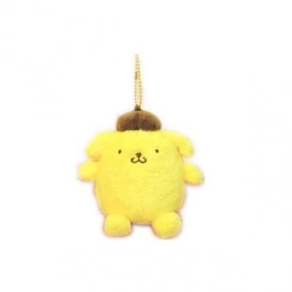 小禮堂 布丁狗 玩偶吊飾 絨毛 娃娃 吊飾 掛飾 鑰匙圈 (黃棕 坐姿)