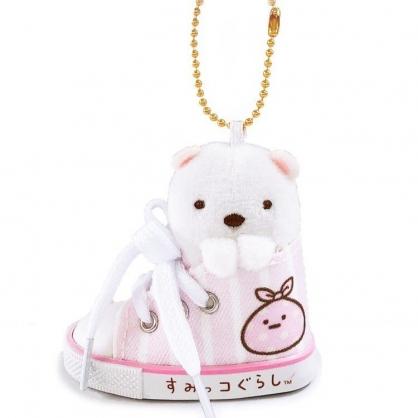 小禮堂 角落生物 鑰匙圈 絨毛吊飾 鎖圈 掛飾 帆布鞋造型 (白 北極熊)