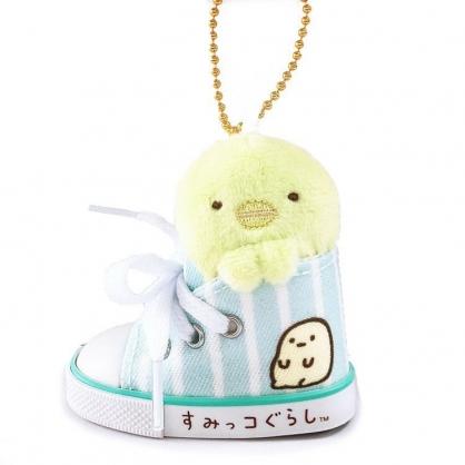 小禮堂 角落生物 鑰匙圈 絨毛吊飾 鎖圈 掛飾 帆布鞋造型 (綠 企鵝)
