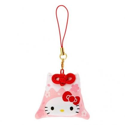 小禮堂 Hello Kitty 香氛鑰匙圈 吊飾 掛飾 鎖圈 香包 富士山造型 櫻花香 (粉 燦爛櫻花)