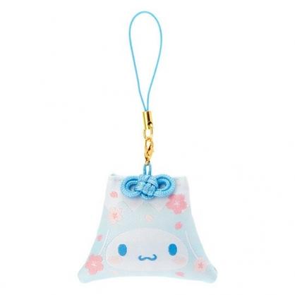 小禮堂 大耳狗 香氛鑰匙圈 吊飾 掛飾 鎖圈 香包 富士山造型 櫻花香 (藍 燦爛櫻花)