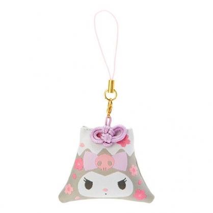 小禮堂 酷洛米 香氛鑰匙圈 吊飾 掛飾 鎖圈 香包 富士山造型 櫻花香 (灰 燦爛櫻花)