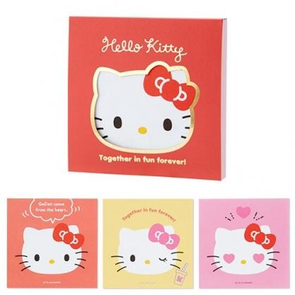小禮堂 Hello Kitty 日製 迷你 便條本 留言紙 信紙 便條紙 (紅 大臉文具)