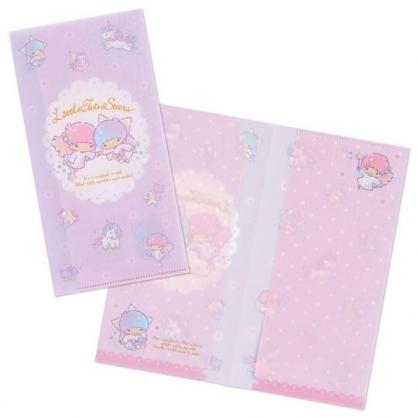 小禮堂 雙子星 日製 票據夾 雙開式文件夾 資料夾 檔案夾 收納夾 (紫 獨角獸)