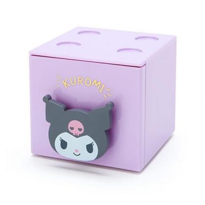 小禮堂 酷洛米 積木盒 收納盒 抽屜盒 方形塑膠 單抽 置物盒 可堆疊 (紫 大臉文具)