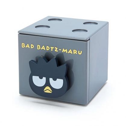 小禮堂 酷企鵝 積木盒 收納盒 抽屜盒 方形塑膠 單抽 置物盒 可堆疊 (黑 大臉文具)