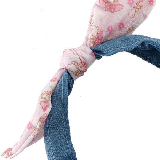 小禮堂 美樂蒂 兒童髮箍 牛仔布 髮飾 髮帶 頭飾 首飾 兒童髮飾 蝴蝶結造型 (淺藍粉)