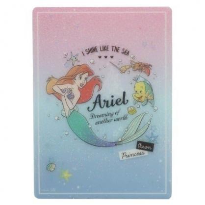 小禮堂 迪士尼 小美人魚 日製 硬墊板 B5 桌墊 寫字墊  學童文具 透明亮粉 (粉藍 對看)