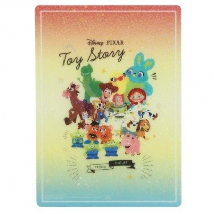 小禮堂 迪士尼 玩具總動員 日製 硬墊板 B5 桌墊 寫字墊  學童文具 透明亮粉 (橘黃 Q版)