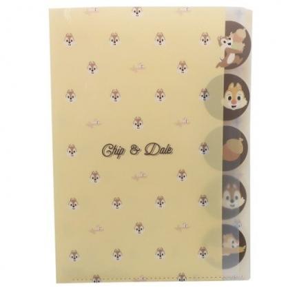 小禮堂 迪士尼 奇奇蒂蒂 日製 資料夾 A4 分類文件夾 檔案夾 L夾 (棕黃 大臉)