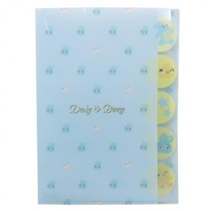 小禮堂 迪士尼 玩具總動員 日製 資料夾 A4 分類文件夾 檔案夾 L夾 (藍黃 大臉)