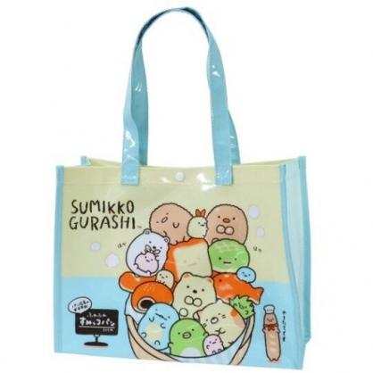 小禮堂 角落生物 透明海灘袋 游泳袋 側背袋 防水提袋 泳具袋 (綠棕 麵包)