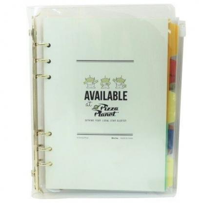 小禮堂 迪士尼 三眼怪 活頁筆記本 A5 六孔 記事本 手帳本 日記本 手記 手札 附夾鏈袋 (綠 三隻)