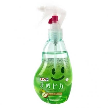 小禮堂 日本LION 日製 馬桶清潔噴霧 除菌劑 清潔劑 蘋果香 210ml (綠)