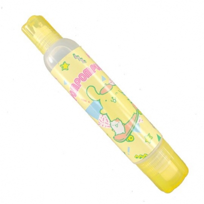 小禮堂 布丁狗 雙頭膠水 漿糊 黏貼用品 學童文具 50ml (黃 滑板)