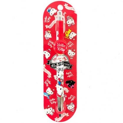 小禮堂 Hello Kitty 原子筆 藍筆 自動原子筆 油性筆 學童文具 造型筆夾 (紅 變裝)